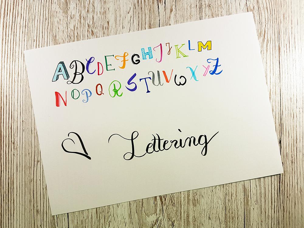 Typografie, Kalligrafie, Lettering